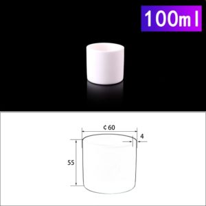 100mL Cylindrical Alumina Crucible without Cover