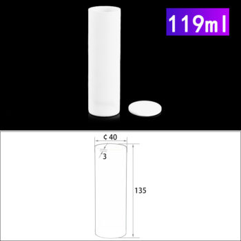 119mL Alumina Crucibles with Cover Cylindrical
