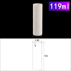 119mL Cylindrical Alumina Crucible without Cover