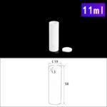 C123, Cylindrical Crucible, 11ml, φ19x58mm, Alumina Crucible with Cover (5pc/ea)