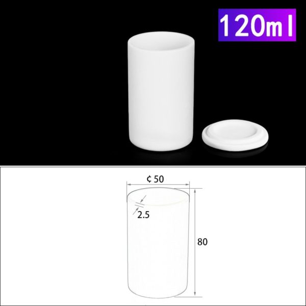 120mL Alumina Crucibles with Cover Cylindrical