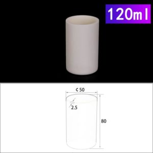 120mL Cylindrical Alumina Crucible without Cover