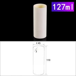 127mL Cylindrical Alumina Crucible without Cover