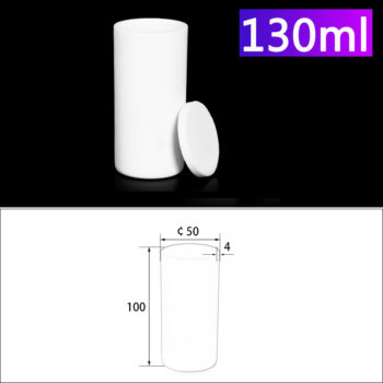 130mL Alumina Crucibles with Cover Cylindrical