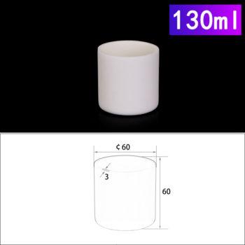 130mL Cylindrical Alumina Crucible without Cover