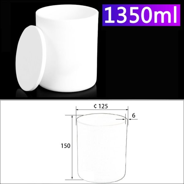 1350mL Alumina Crucibles with Cover Cylindrical