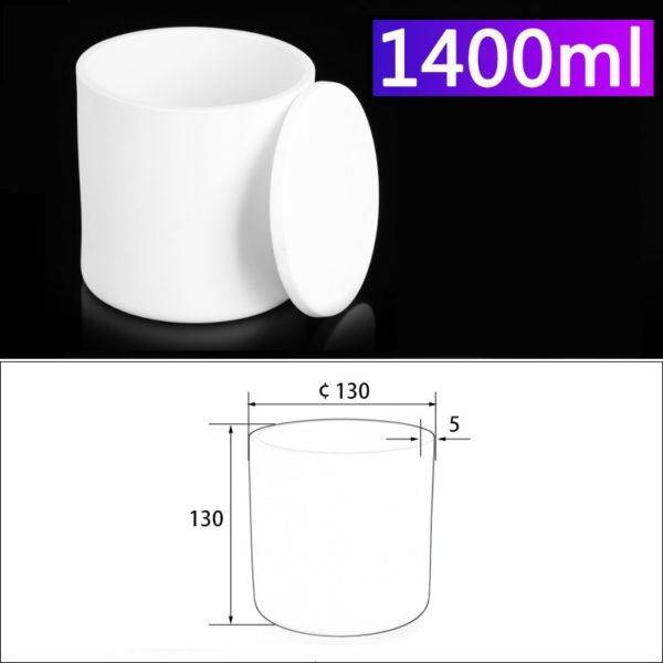 1400mL Alumina Crucibles with Cover Cylindrical