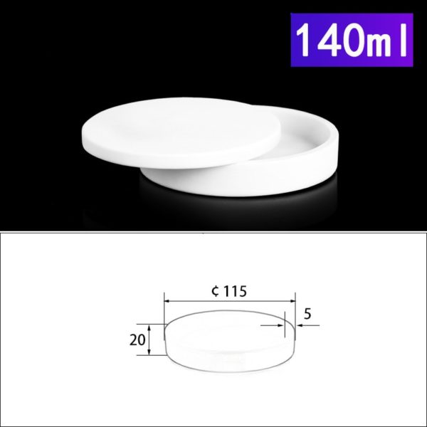 140mL Alumina Crucibles with Cover Cylindrical