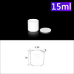 C125, Cylindrical Crucible, 15ml, φ30x30mm, Alumina Crucible with Cover (5pc/ea)