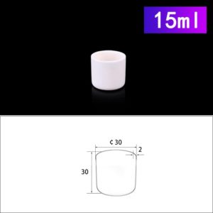 15mL Cylindrical Alumina Crucible without Cover