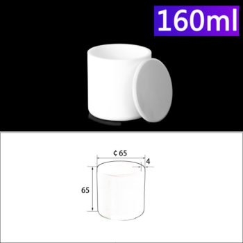 160mL Alumina Crucibles with Cover Cylindrical