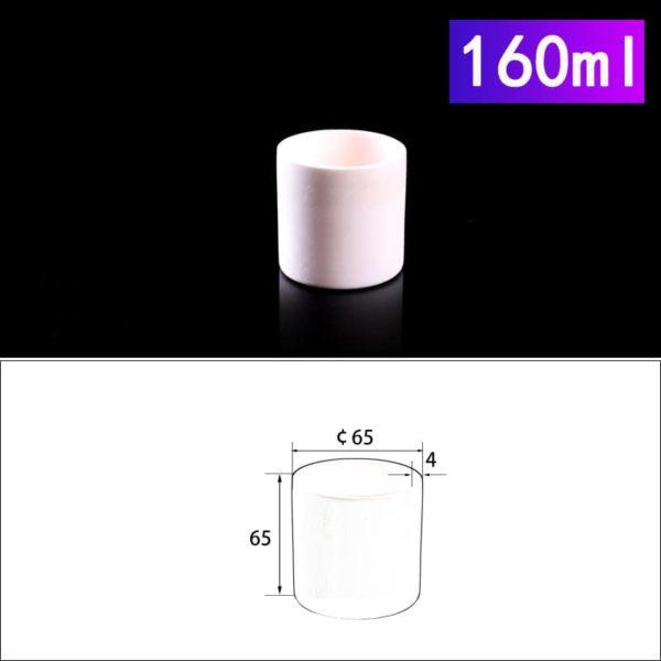 160mL Cylindrical Alumina Crucible without Cover