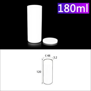 180mL Alumina Crucibles with Cover Cylindrical