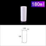 C242, Cylindrical Crucible, 180ml, 48x120mm, Alumina Crucible NO Cover (1pc/ea)