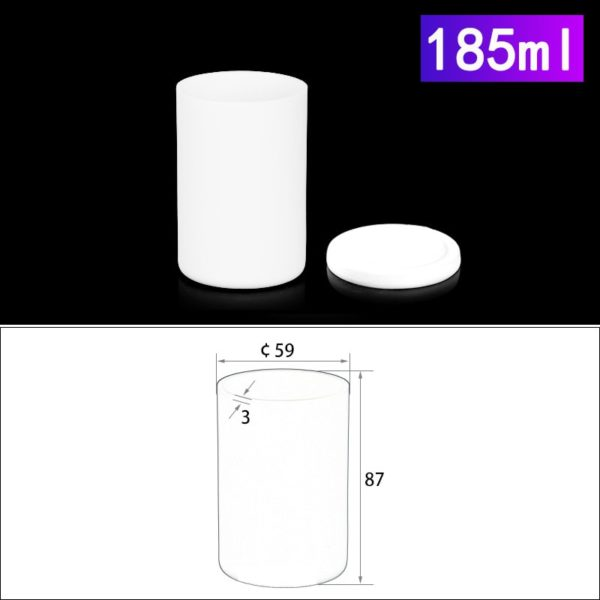 185mL Alumina Crucibles with Cover Cylindrical