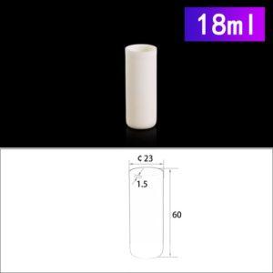 18mL Cylindrical Alumina Crucible without Cover