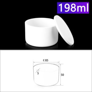 198mL Alumina Crucibles with Cover Cylindrical