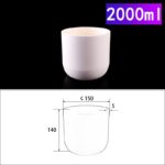 C270, Cylindrical Crucible, 2000ml, 150x140mm, Alumina Crucible NO Cover (1pc/ea)