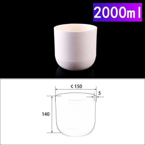 2000mL Cylindrical Alumina Crucible without Cover
