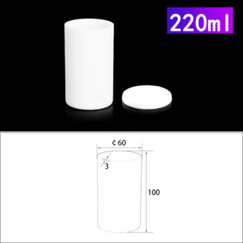 220mL Alumina Crucibles with Cover Cylindrical