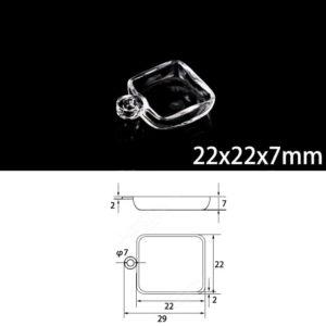 22x22x7mm-quartz-sulfur-analyzer-boat-single-hole