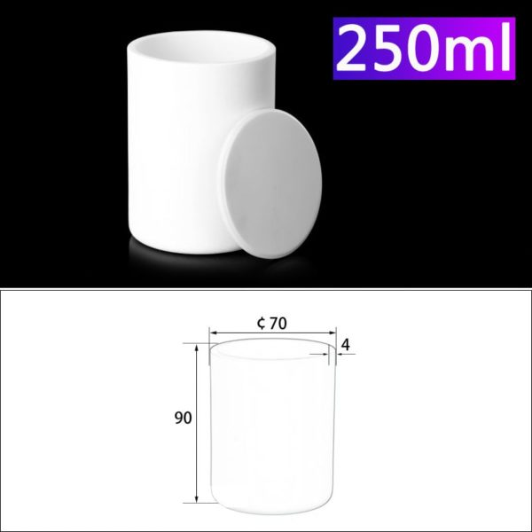 250mL Alumina Crucibles with Cover Cylindrical