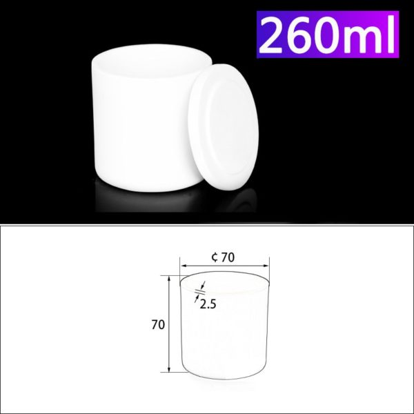 260mL Alumina Crucibles with Cover Cylindrical