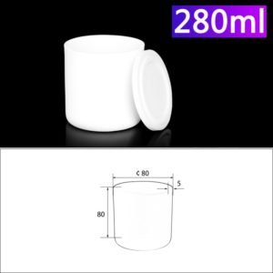 280mL Alumina Crucibles with Cover Cylindrical