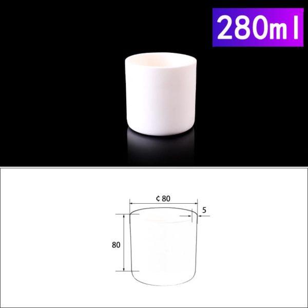 280mL Cylindrical Alumina Crucible without Cover