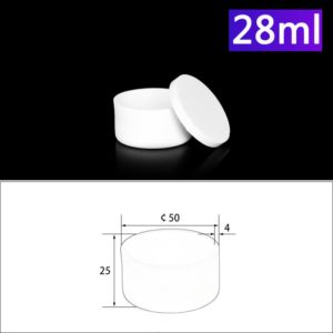 28ml Alumina Crucibles with Cover Cylindrical