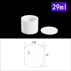 29ml Alumina Crucibles with Cover Cylindrical