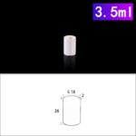C195, Cylindrical Crucible, 3.5ml, 18x26mm, Alumina Crucible NO Cover (10pc/ea)