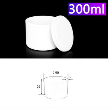300mL Alumina Crucibles with Cover Cylindrical