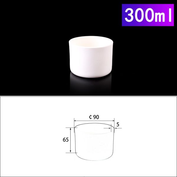 300mL Cylindrical Alumina Crucible without Cover