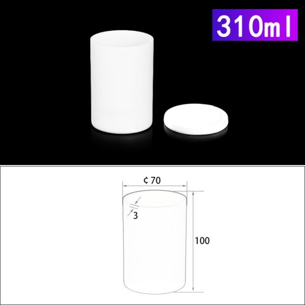 310mL Alumina Crucibles with Cover Cylindrical