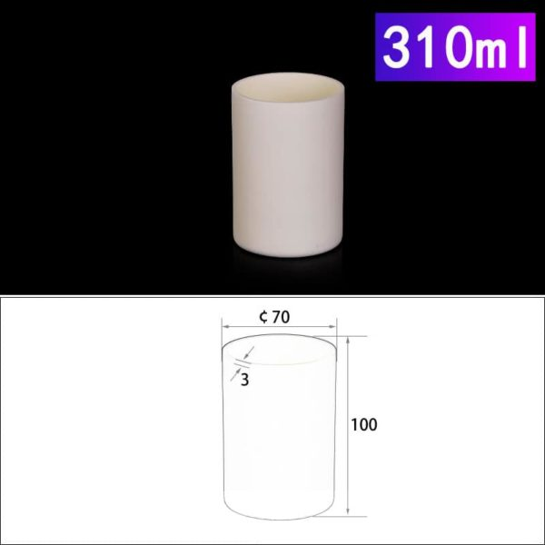 310mL Cylindrical Alumina Crucible without Cover