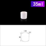 C215, Cylindrical Crucible, 35ml, 40x38mm, Alumina Crucible NO Cover (5pc/ea)