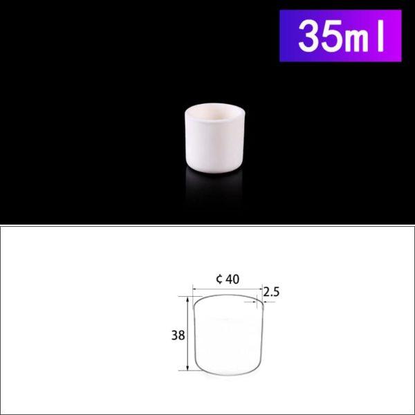 35mL Cylindrical Alumina Crucible without Cover