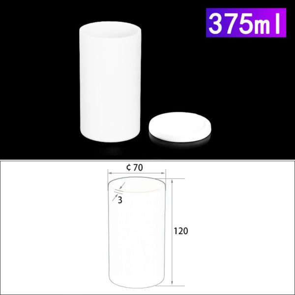 375mL Alumina Crucibles with Cover Cylindrical