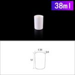 C216, Cylindrical Crucible, 38ml, 35x51mm, Alumina Crucible NO Cover (5pc/ea)