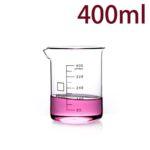 C720, Quartz Beaker, 400ml, 1100-1450°C, 300-800nm (1pc/ea)