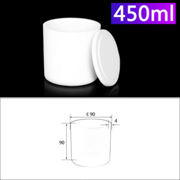 450mL Alumina Crucibles with Cover Cylindrical