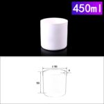 C255, Cylindrical Crucible, 450ml, 90x90mm, Alumina Crucible NO Cover (1pc/ea)