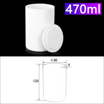 470mL Alumina Crucibles with Cover Cylindrical