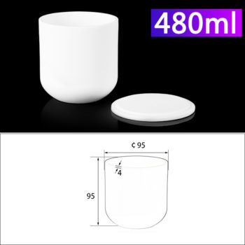 480mL Alumina Crucibles with Cover Cylindrical