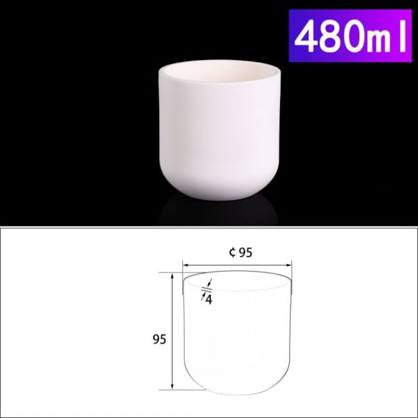 480mL Cylindrical Alumina Crucible without Cover