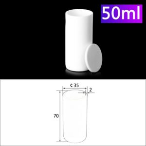 50ml Alumina Crucibles with Cover Cylindrical
