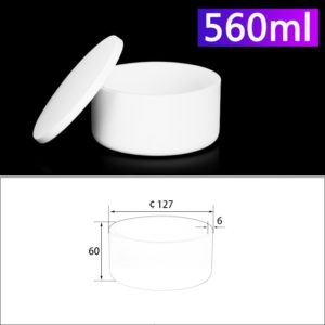 560mL Alumina Crucibles with Cover Cylindrical