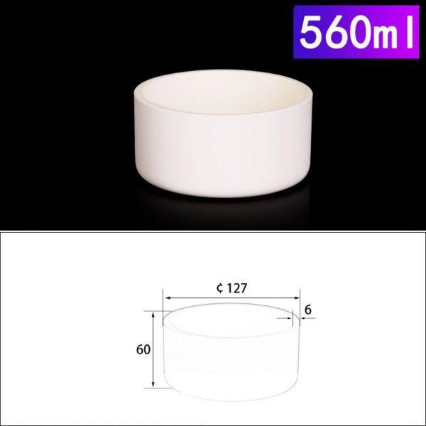 560mL Cylindrical Alumina Crucible without Cover