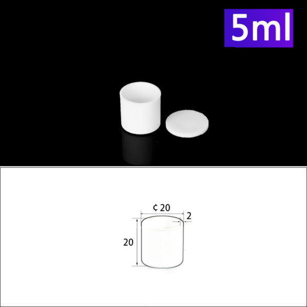 5mL Alumina Crucibles with Cover, Cylindrical